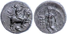 Himera, Hemilitron (6,41g), 420-408 V. Chr., Av: Jüngling Mit Muschelhorn Und Kerykeion Auf Ziege Nach Rechts,... - Antique