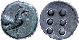 Panormus, Hemilitra (11,63g), Um 410 V. Chr., Av: Hahn Nach Rechts, Davor Punische Schrift, Rev: 6 Wertkugeln, Ss. ... - Antique