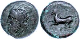 Syrakus, Timoleon, Æ-Hemilitron (17,78g), 344 V. Chr., Av: Kopf Des Zeus Eleutherios L. Nach Links, Darum... - Antique