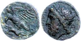 Akragas, Phintias, Tyrant, Æ (3,48g), 338-287 V. Chr., Av: Zeuskopf Nach Links, Rev: Adler Mit Hase In Den... - Antique