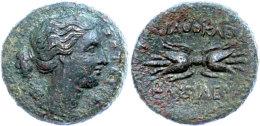 Syrakus, Æ (8,54g), 317-289 V. Chr., Agathokles, Av: Artemiskopf Nach Rechts, Rev: Geflügelter Blitz,... - Antique