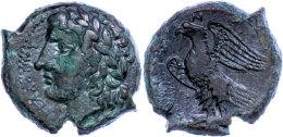 Syrakus, Æ (9,54g), 288-279 V. Chr., Hiketas II., Av: Kopf Des Zeus Hellanios Nach  Links, Rev: Adler Mit... - Antique