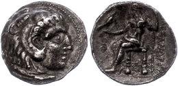 Makedonien, Sidon,Tetradrachme (15,90g), 313-312 V. Chr., Alexander III., Av: Herakleskopf Mit Löwenfell Nach... - Antique