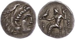 Makedonien, Lampsacus, Drachme (4,15g), 310-301 V. Chr., Alexander III., Av: Herakleskopf Mit Löwenfell Nach... - Antique