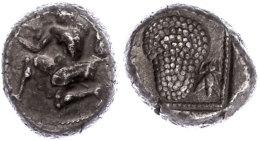 Soloi, AR-Stater (10,32g), 425-400 V. Chr., Av: Kniende Amazone Mit Bogen, Rev: Weinrebe, Links Schrift, Rechts... - Antique