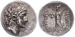 Drachme (4,17g), 130-116 V. Chr., Ariarathes VI. Epiphanes Philopator, Av: Kopf Nach Rechts, Rev: Athena Mit Speer... - Antique