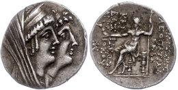 Tetradrachme (16,37g),125-121 V. Chr., Ptolemais, Kleopatra Thea Und Antiochos VIII., Av: Kopf Der Kleopatra Thea... - Antique