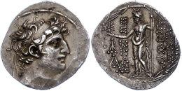 Antiochia Am Orontes, Tetradrachme (16,55g),112-111 V. Chr., Antiochos VIII., Av: Kopf Nach Rechts, Rev: Zeus... - Antique