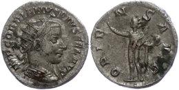 Gordianus III., 238-244, Antoninianus (3,91g), Rom, Av: Büste Nach Rechts, Darum Umschrift, Rev: Stehender Sol... - 4. Other Roman Coins