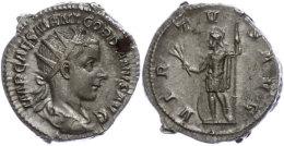 Gordianus III., 238-244, Antoninianus (5,68g), Rom, Av: Büste Nach Rechts, Darum Umschrift., Rev: Stehender... - Roman