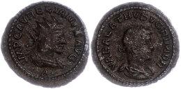 271-272, AE- Antoninian, Vabalathus, Av: Drapierte Büste Mit Strahlenkrone Nach Rechts Und Umschrift, Rev:... - 4. Other Roman Coins