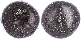 Kappadokien, Didrachme (6,72g),Trajanus, 98-117, Av: Drapierte Büste Nach Rechts, Darum Umschrift, Rev:... - Roman