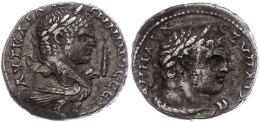 Phönizien, Tyros, Tetradrachme (12,81g), Caracalla, 213-217, Av: Kopf Nach Rechts, Rechts Keule, Darunter... - Roman