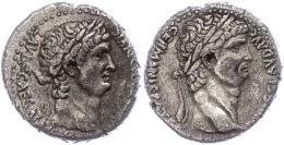 Antiochia, Tetradrachme (15,04g), Ca. 63-68, Nero Und Divius Claudius, Av: Kopf Des Nero Nach Rechts, Dahinter... - Roman