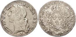 Ecu Au Bandeau Du Bearn, 1753, Louis XV., Pau, Gadoury 322a, Justiert, Ss.  SsEuropean Currency Unit Au Bandeau... - Other Coins