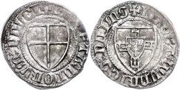 Schilling (1,57g), O.J. (1351-1382), Wynrich Von Knyprode, Neumann 4, Voßberg 135, Leichte... - [ 1] …-1871 : German States