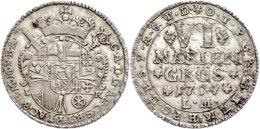 6 Mariengroschen, 1754, Klemens August Herzog Von Bayern, Noss 754, Etwas Poröser Schrötling, Ss+.  6... - [ 1] …-1871 : German States