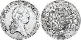 Taler, 1775, Friedrich August III., EDC-Dresden, Dav. 2690, Ss.  SsThaler, 1775, Friedrich August III.,... - [ 1] …-1871 : German States