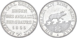 Taler, 1855, Alexander Carl, AKS 16, J. 66, Vz.  VzThaler, 1855, Alexander Carl, AKS 16, J. 66, Extremley Fine ... - [ 1] …-1871 : German States