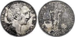 Doppelgulden, 1855, Maximilian II. Joseph, AKS 168, J. 84, Kl. Rf., Kräftige Patina, F. Vz.  Double... - [ 1] …-1871 : German States