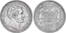 Taler, 1871, Wilhelm, AKS 81, J. 257, Kleine Randfehler, Ss.  SsThaler, 1871, Wilhelm, AKS 81, J. 257, Small... - [ 1] …-1871 : German States