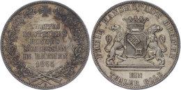 Taler, 1865, ZWEITES DEUTSCHES BUNDESSCHIESSEN, AKS 16, J. 27, Vz.  VzThaler, 1865, Second German Federation... - [ 1] …-1871 : German States