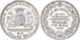 Taler, 1871, ZUR ERINNERUNG AN DEN GLORREICH ERKÄMPFTEN FRIEDEN VOM 10 MAI 1871, AKS 17, J. 28, Kleine... - [ 1] …-1871 : German States