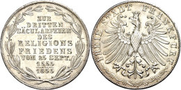 Doppelgulden, 1855, Säcularfeier, AKS 42, J. 49, Kl. Rf., Vz-st.  Vz-stDouble Guilder, 1855,... - [ 1] …-1871 : German States