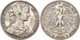 Taler, 1860, AKS 8, J. 41, Randfehler, Ss.  SsThaler, 1860, AKS 8, J. 41, Margin Fault, Very Fine.  Ss - [ 1] …-1871 : German States