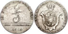 2/3 Taler, 1813, Friedrich Franz I., AKS 7, J. 21, Ss.  Ss2 / 3 Thaler, 1813, Friedrich Francis I., AKS 7, J.... - [ 1] …-1871 : German States