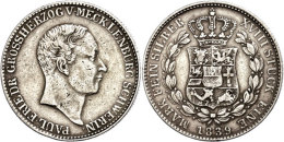 2/3 Taler, 1839, Paul Friedrich, AKS 32, J. 45, Randfehler, Ss.  Ss2 / 3 Thaler, 1839, Paul Friedrich, AKS 32,... - [ 1] …-1871 : German States