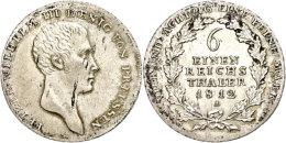 1/6 Taler, 1812, Friedrich Wilhelm III., Berlin, AKS 24, J. 31, Schrötlingsfehler, Vz+.  1 / 6 Thaler,... - [ 1] …-1871 : German States