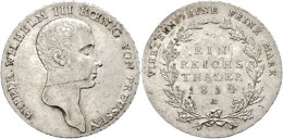 Taler, 1818, Friedrich Wilhelm III., AKS 11, Dav. 756, Vz.  VzThaler, 1818, Friedrich Wilhelm III., AKS 11,... - [ 1] …-1871 : German States