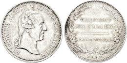Taler, 1827, Friedrich August I., Auf Seinen Tod, AKS 56, J. 45, Kl. Rf., Ss+.  Thaler, 1827, Friedrich August... - [ 1] …-1871 : German States