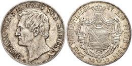 Doppeltaler, 1859, Johann, AKS 126, J. 889, Kl. Rf., Vz.  VzDouble Taler, 1859, Johann, AKS 126, J. 889, Small... - [ 1] …-1871 : German States