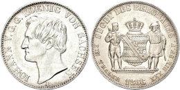Taler, 1866, Johann, AKS 135, Vz+.  Thaler, 1866, Johann, AKS 135, Extremly Fine . - [ 1] …-1871 : German States