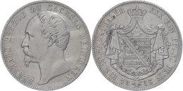 Taler, 1866, Bernhard, AKS 184, J. 450, S-ss.  S-ssThaler, 1866, Barney, AKS 184, J. 450, S Very Fine.  S-ss - [ 1] …-1871 : German States