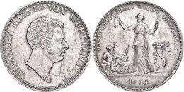 Kronentaler, 1833, Wilhelm I., Handelsfreiheit, AKS 67, J. 56, Leicht Justiert, Ss-vz.  Ss-vzCrowns Taler,... - [ 1] …-1871 : German States