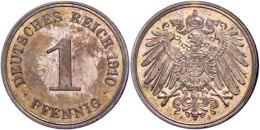1 Pfennig, 1910, J, PP., Katalog: J. 10 PP1 Penny, 1910, J, PP., Catalogue: J. 10 PP - [ 2] 1871-1918 : German Empire