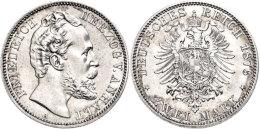 2 Mark, 1876, Friedrich I., Vz., Katalog: J. 19 Vz2 Mark, 1876, Friedrich I., Extremley Fine, Catalogue: J. 19... - [ 2] 1871-1918 : German Empire