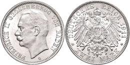 2 Mark, 1913, Friedrich II., F. St., Katalog: J. 38 2 Mark, 1913, Friedrich II., F. St., Catalogue: J. 38 - [ 2] 1871-1918 : German Empire