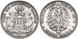 2 Mark, 1876, St., Katalog: J. 61 St2 Mark, 1876, St., Catalogue: J. 61 St - [ 2] 1871-1918 : German Empire