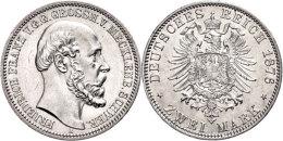 2 Mark, 1876, Friedrich Franz II., Vz-st., Katalog: J. 84 Vz-st2 Mark, 1876, Friedrich Francis II., Extremly... - [ 2] 1871-1918 : German Empire