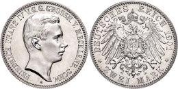 2 Mark, 1901, Friedrich Franz IV., Avers Leicht Berieben, PP., Katalog: J. 85 2 Mark, 1901, Friedrich Francis... - [ 2] 1871-1918 : German Empire