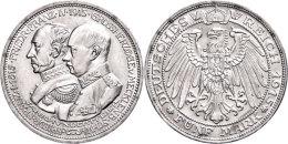 5 Mark, 1915, Friedrich Franz IV., Zur Jahrhundertfeier Des Großherzogtums, Kl. Rf., Vz., Katalog: J. 89... - [ 2] 1871-1918 : German Empire