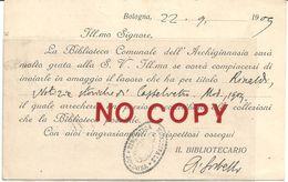 Sorbelli Albano, Fanano 1875 - Pavullo 1944, Letterato, Storico, Bibliotecario Dell'Archiginnasio Di Bologna. - Autografi