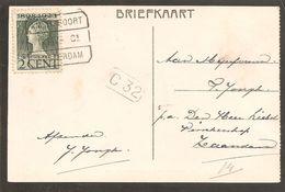Blokstempel. Amersfoort-Amsterdam C1. Sp1. Emissie 1923. Anzicht Baarn - Storia Postale