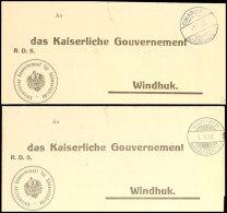 KARIBIB 3.11.13 Und OMARURU 3.9.13, Je Klar Auf Dienstbrief (Meterologische Beobachtungen) Nach Windhuk Mit... - Colony: German South West Africa
