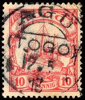 AGU (TOGO) 17.5.13, Klar Und Fast Kompletter Abschlag Auf Loser Marke 10 Pfg. Kaiseryacht Ohne Wasserzeichen, Marke... - Colony: Togo