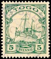ASSAHUN Zart Fast Vollständig Auf 5 Pfg Kaiseryacht Gepr. Jäschke-L BPP, ARGE 100.-, Katalog: 21... - Colony: Togo